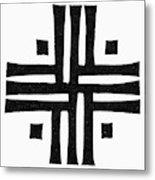 Sacred Roman Cross Metal Print