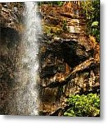 Sacred Waterfall Of Tropical Forest Metal Print