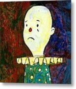 Sad Clown Metal Print