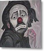 Sad Clown Metal Print