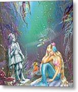 Sad Little Mermaid Metal Print by Zorina Baldescu