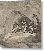 Sad State Of Seven Sailors From The Ship The Karseboom Metal Print