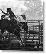 Saddle Bronc Riding Metal Print