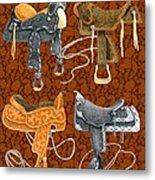 Saddle Leather Metal Print