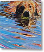 Sadie Has A Ball Metal Print