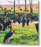 Safari Birds Metal Print
