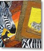 Safari Series-zebra Metal Print