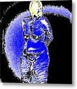 Safe Blue Woman Metal Print