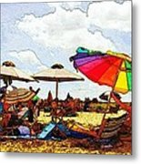Safe From The Wind Metal Print
