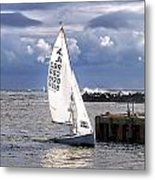 Safely Back To Harbour Metal Print