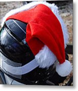 Safety First Santa Metal Print