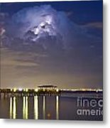 Safety Harbor Pier Metal Print