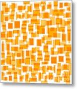 Saffron Yellow Abstract Metal Print