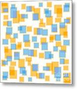 Saffron Yellow And Azure Blue Metal Print