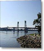 Sagadahoc Bridge Bath Maine Metal Print