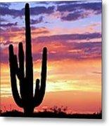 Saguaro At Sunset Metal Print