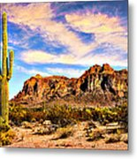 Saguaro Superstition Mountains Arizona Metal Print