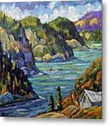 Saguenay Fjord By Prankearts Metal Print