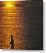 Sail Boat On Puget Sound Metal Print