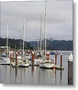 Sail Boats Waiting For Their Captains Metal Print