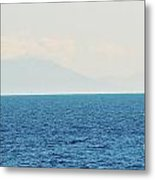 Sail Cool Blue Metal Print