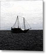 Sail In The Black Sea Metal Print