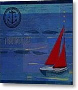 Sail Sail Sail Away - J173131140v02 Metal Print by Variance Collections
