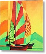Sail To Shore Metal Print by Tracey Harrington-Simpson