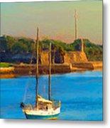 Da147 Sailboat By Daniel Adams Metal Print