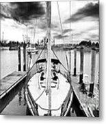 Sailboat Docked Metal Print by John Rizzuto