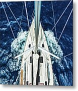 Sailboat From Above Metal Print