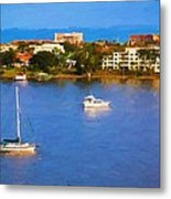 Sailboat In Holly Hill Metal Print