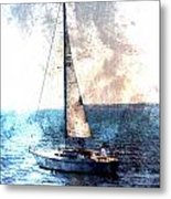Sailboat Light W Metal Metal Print