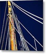 Sailboat Lines Metal Print