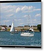 Sailboat On Lake Ontario Near Old Fort Niagara 2 Metal Print