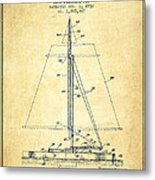 Sailboat Patent From 1932 - Vintage Metal Print