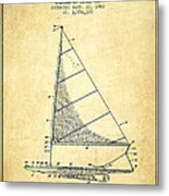 Sailboat Patent From 1962 - Vintage Metal Print