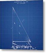 Sailboat Patent From 1991- Blueprint Metal Print