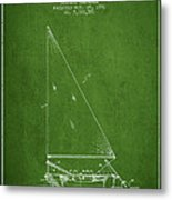 Sailboat Patent From 1991- Green Metal Print