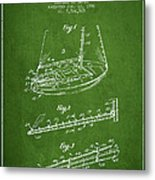 Sailboat Patent From 1996 - Green Metal Print