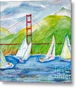 Sailboat Race At The Golden Gate Metal Print
