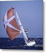 Sailboat Race On Puget Sound Metal Print