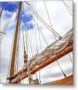 Sailboat Rigging Metal Print