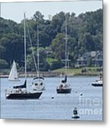 Sailboat Serenity Metal Print