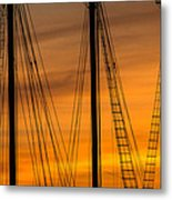 Sailboat Sunrise Metal Print