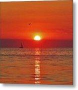 Sailboat Sunset Pamlico Sound 3 10/2 Metal Print