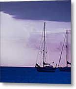Sailboats At Sunset Metal Print