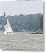 Sailboats At White Rock Lake Metal Print