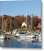 Sailboats In Camden Harbor I Metal Print