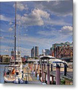 Sailboats In Constitution Marina - Boston Metal Print by Joann Vitali